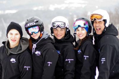 Equipe snowboard Mont Blanc